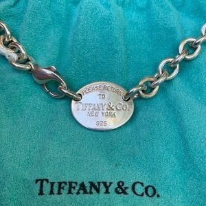 Tiffany & Co Oval Tag Choker Necklace